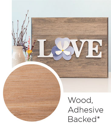Wood Adhesive Backed