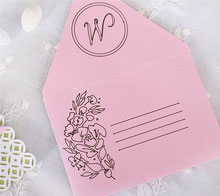 Watercolor Floral Wedding Envelope and Liner