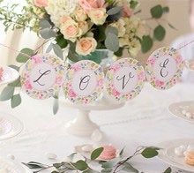 Watercolor Floral Wedding Garland