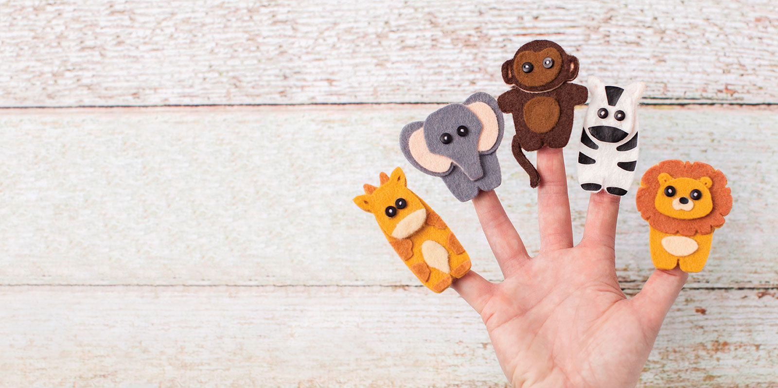 Felt Jungle Finger Puppets