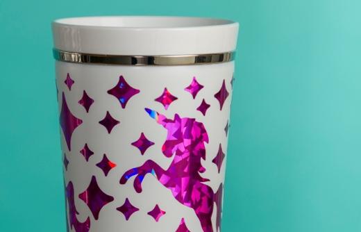 Unicorn vinyl cup