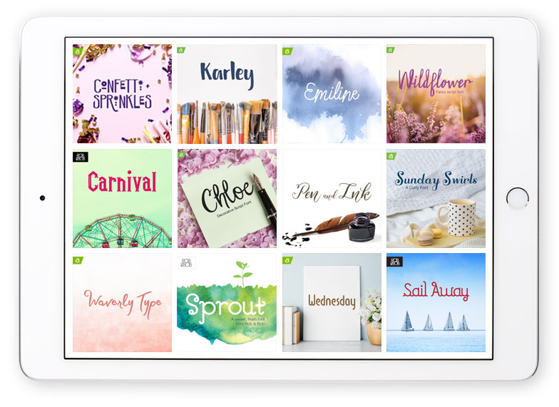 Cricut fonts on iPad