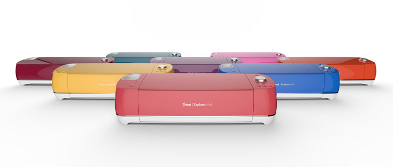 Cricut Explore Air 2 in many hues.