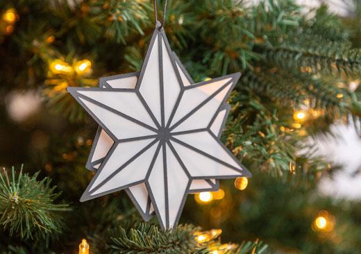 Geometric Star Ornament - image