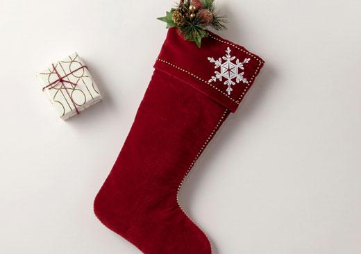 Snowflake Stocking - image