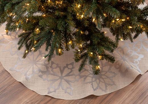 Snowflake Tree Skirt - image