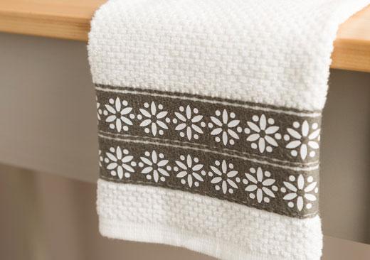 Daisy Border Dish Towel - image