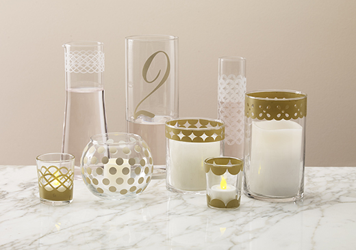 Votives, Vases, and Pitcher