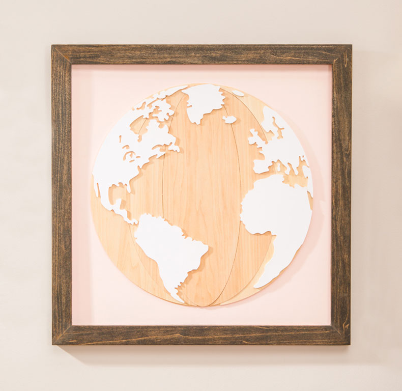 Worldly wall art.
