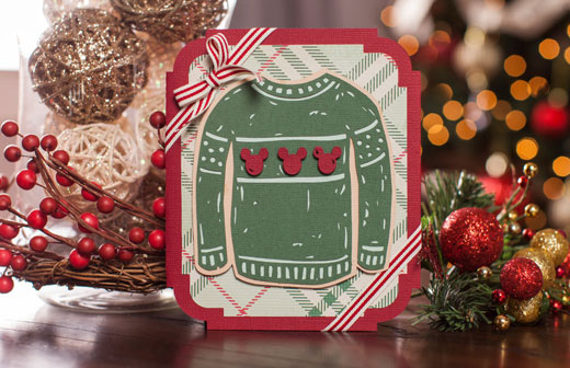 Disney Christmas Sweater Card