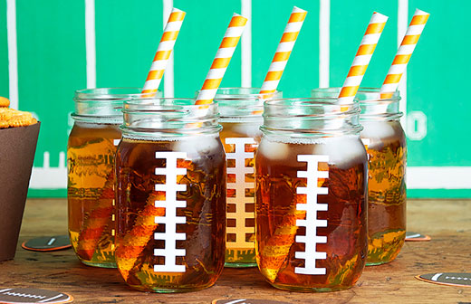 Football Drink Jars