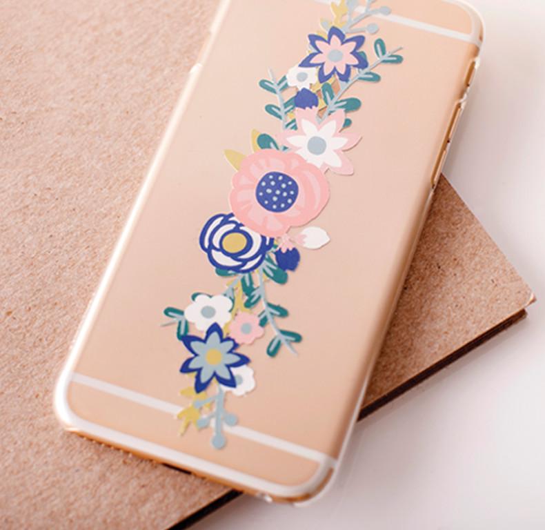 Telefoonhoesje met bloemen
