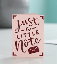 A greeting card cut on the Cricut Joy