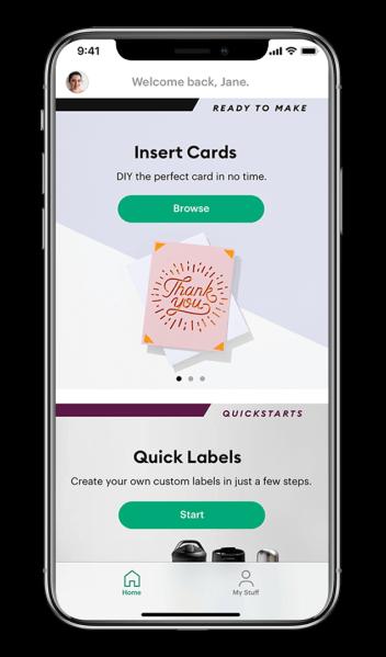 Phone using Cricut Joy App
