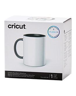 Ceramic Mug Blank, White/Gray - 15 oz/425 ml (1 ct)