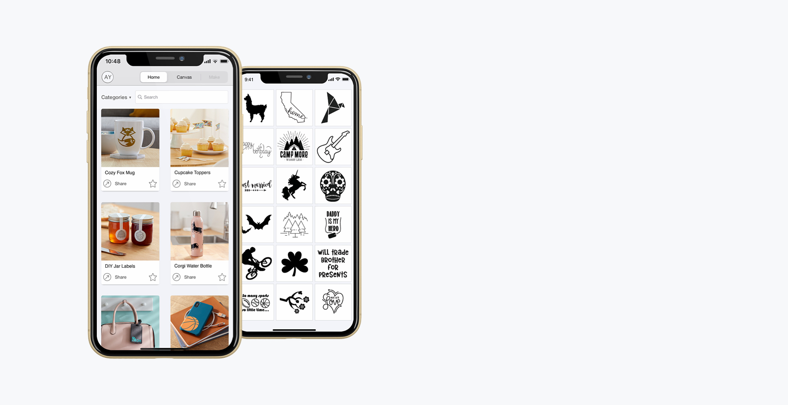 Design Space on a phone