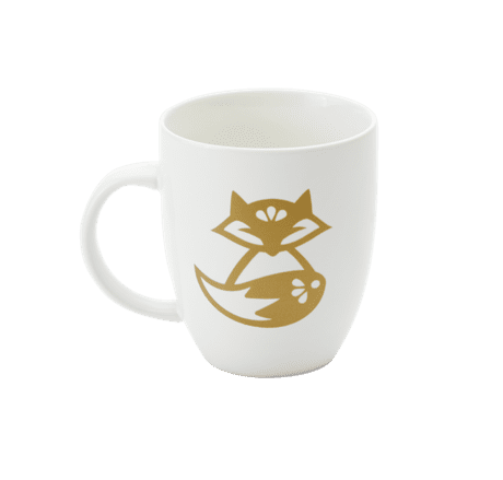 Fox design on mug