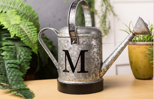 Monogrammed Watering Can