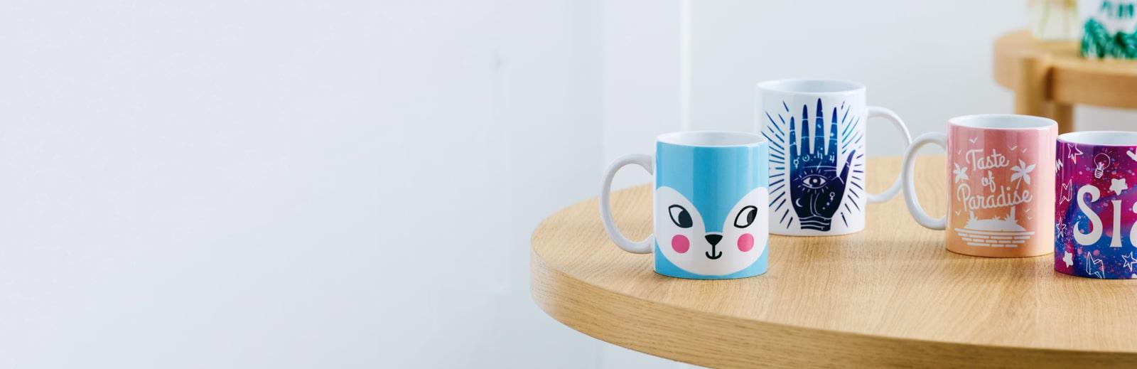 Mugs made with Cricut Mug Press