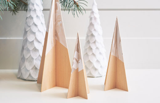 Wood Christmas Trees