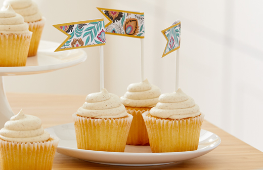 Pennant Cupcake Toppers