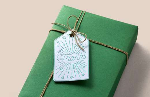 Foil embellishment on thank you gift tag