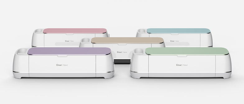 Five Cricut Maker machines