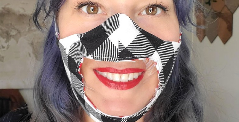 Cricut face mask with window