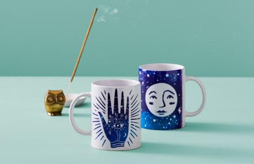 Hamsa Moon Mugs