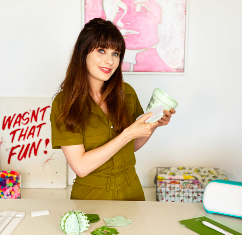 Zooey Deschanel crafting