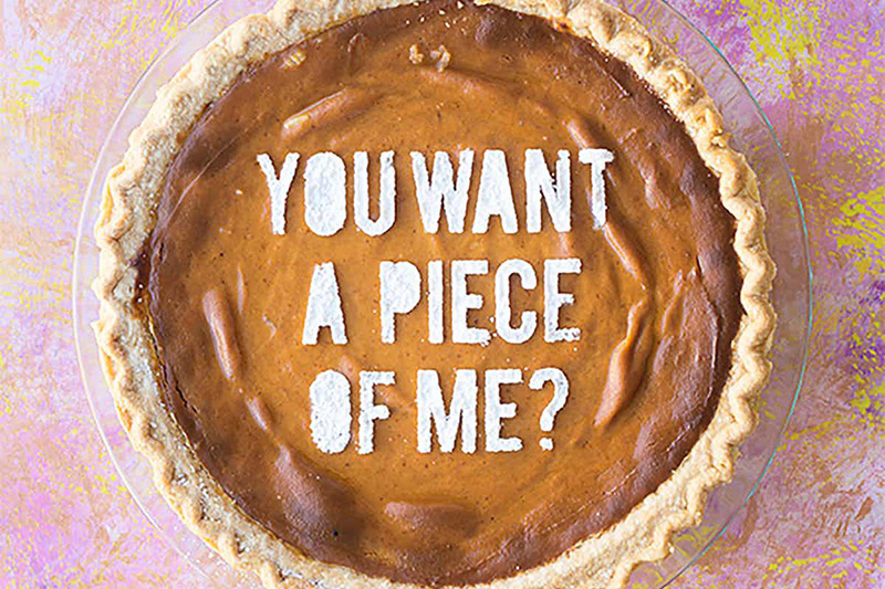 Delight your guests with these funny punny pie stencils