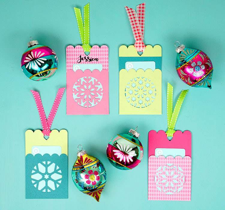 Colorful gift card holders