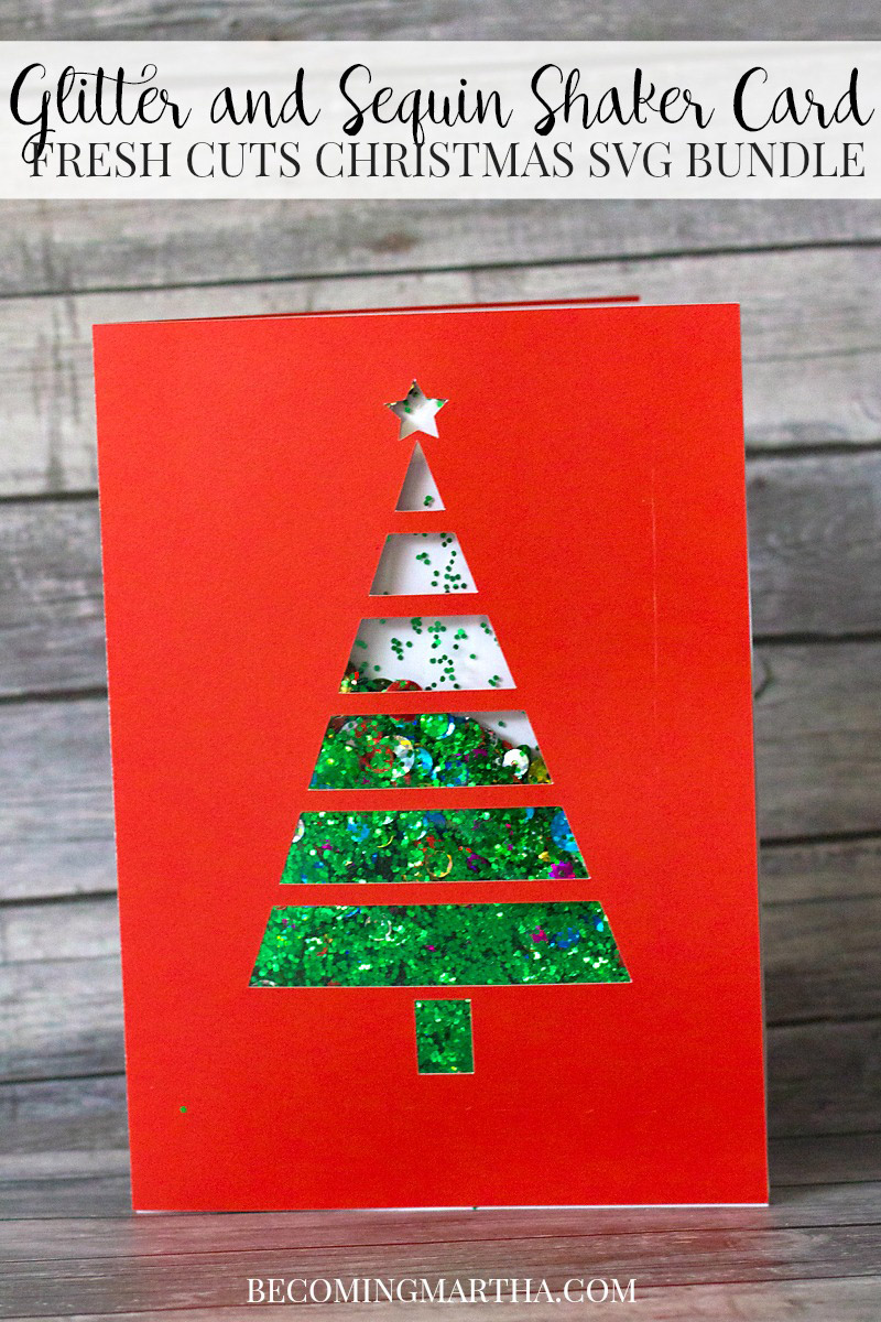 Fun sequin shaker holiday card