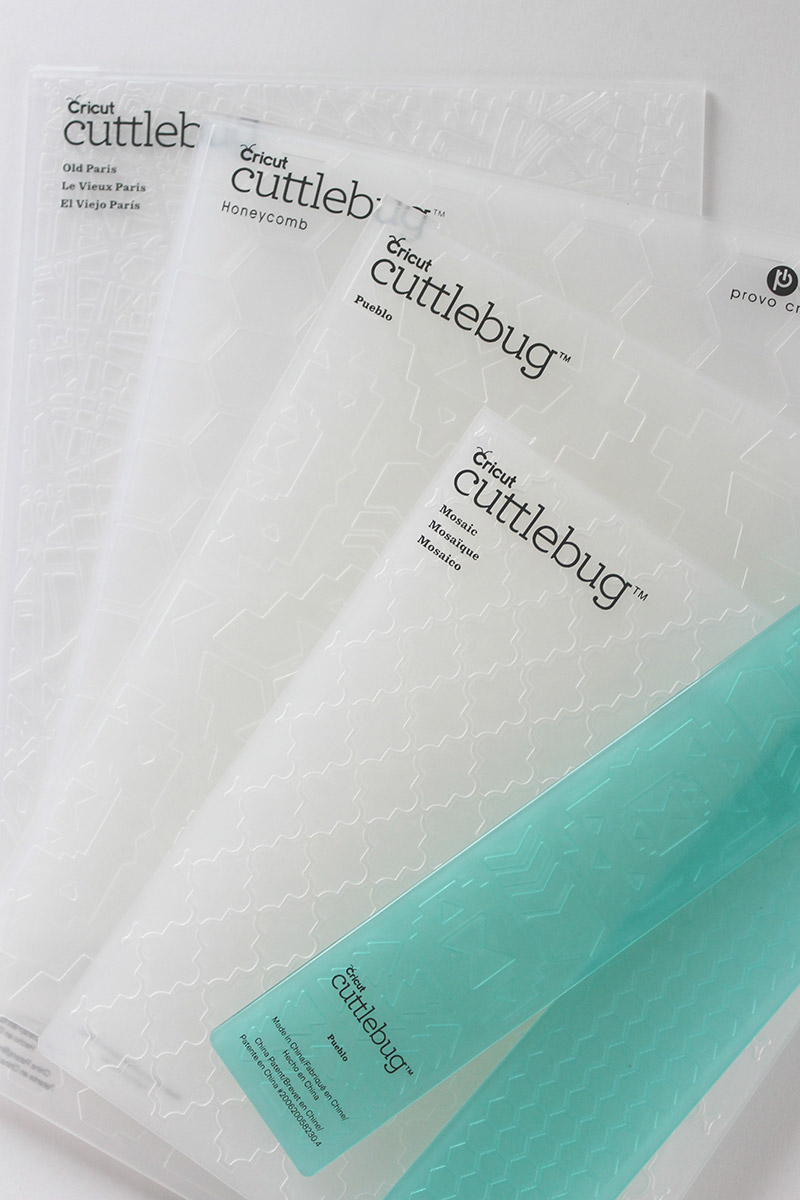 Pick out the embossing folders that you want to use