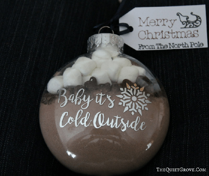 Hot cocoa ornament gift