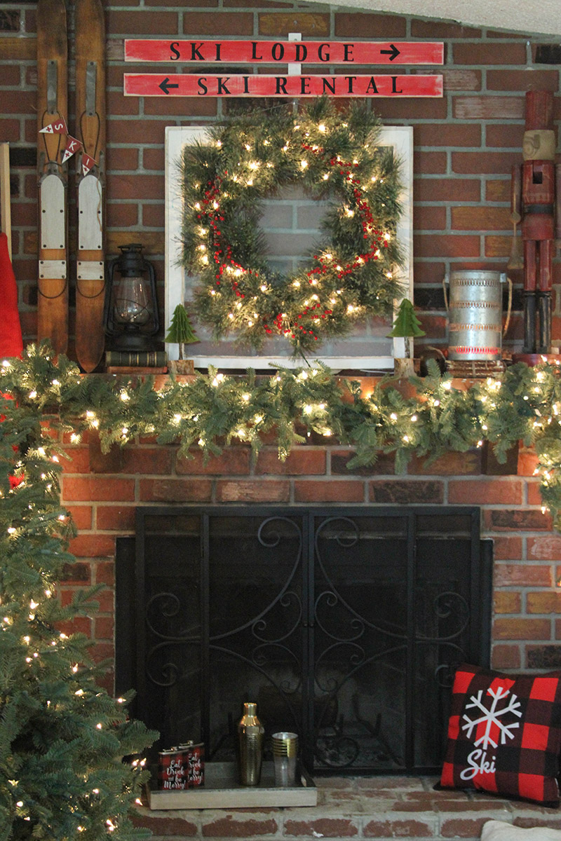 Ski Lodge Mantel by Everyday Party Magazine