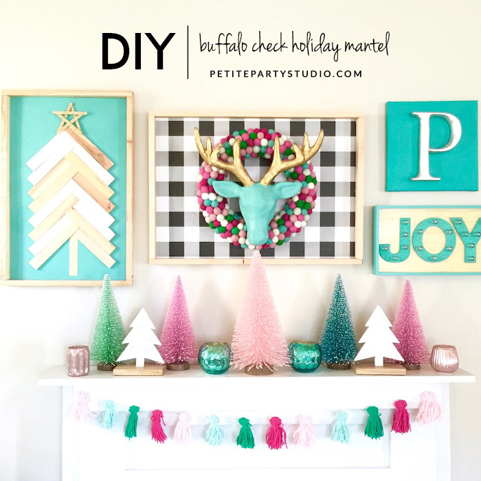 Holiday Mantel Decorating by Make and Do Studio