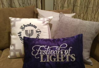 Hanukkah pillows