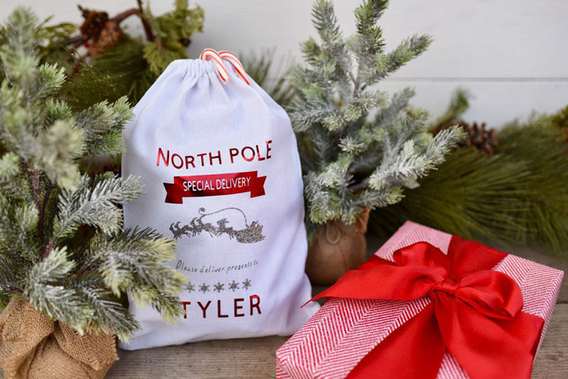 Personalized gift sack