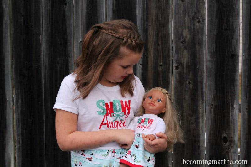 Matching child & doll pajamas
