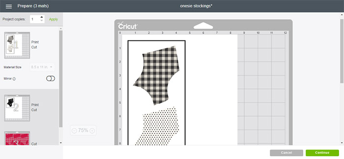 Print out your customized stockings