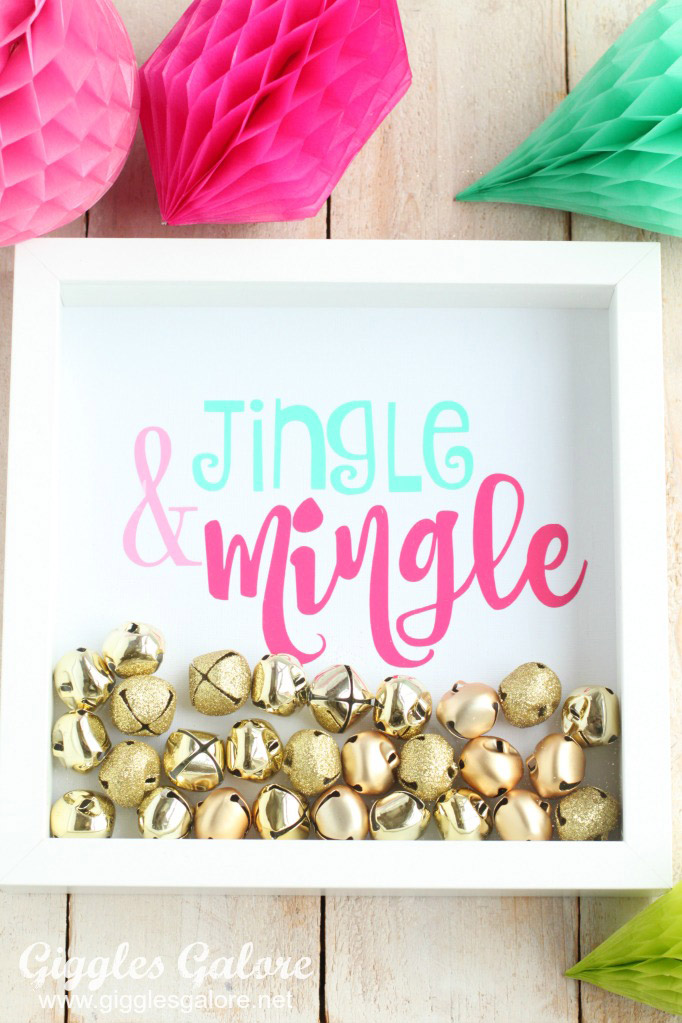 Jingle and Mingle Shadow Box Frame from Giggles Galore
