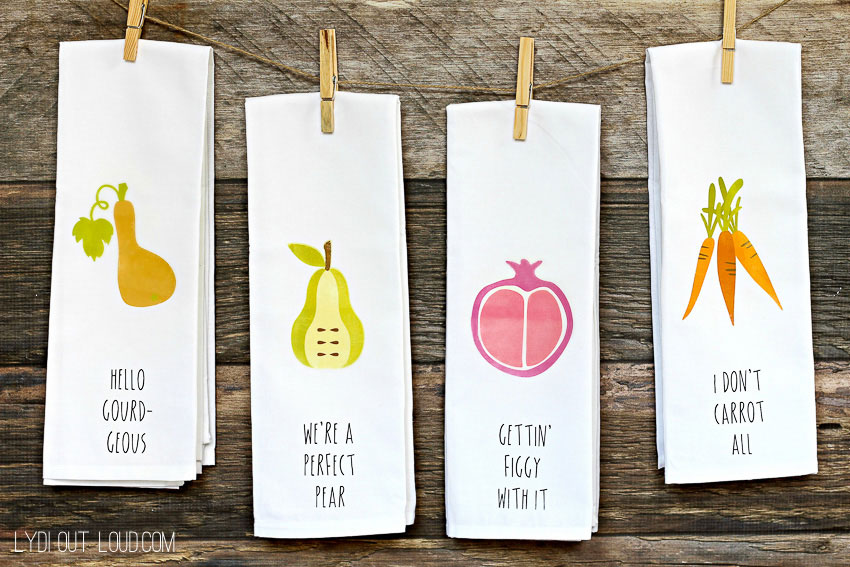 Custom kitchen towels