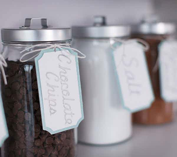 Small pantry jar labels
