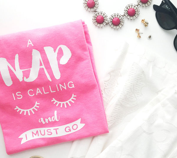 Declare your love of naps with this fun DIY shirt