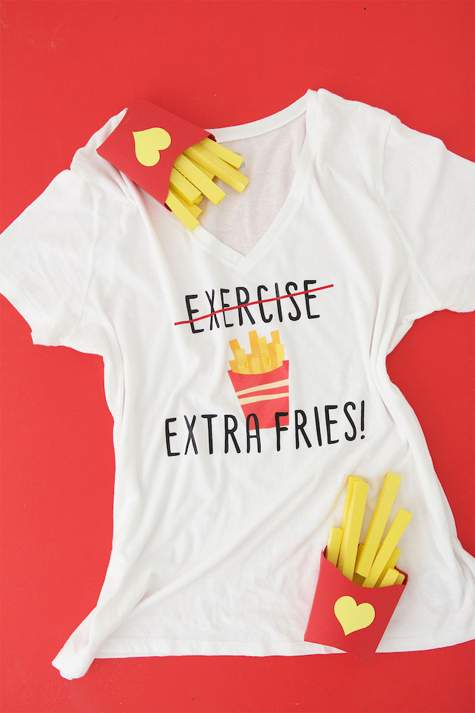 This clever shirt plays on a love of fast food versus exercise