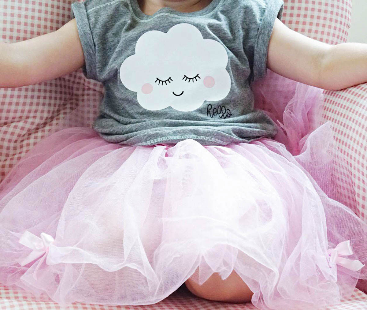 What a cute happy cloud tee for kids!