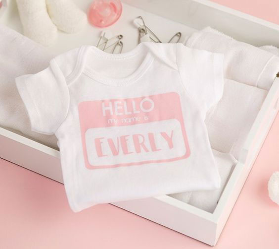 Cute name tag onesie for your wee one
