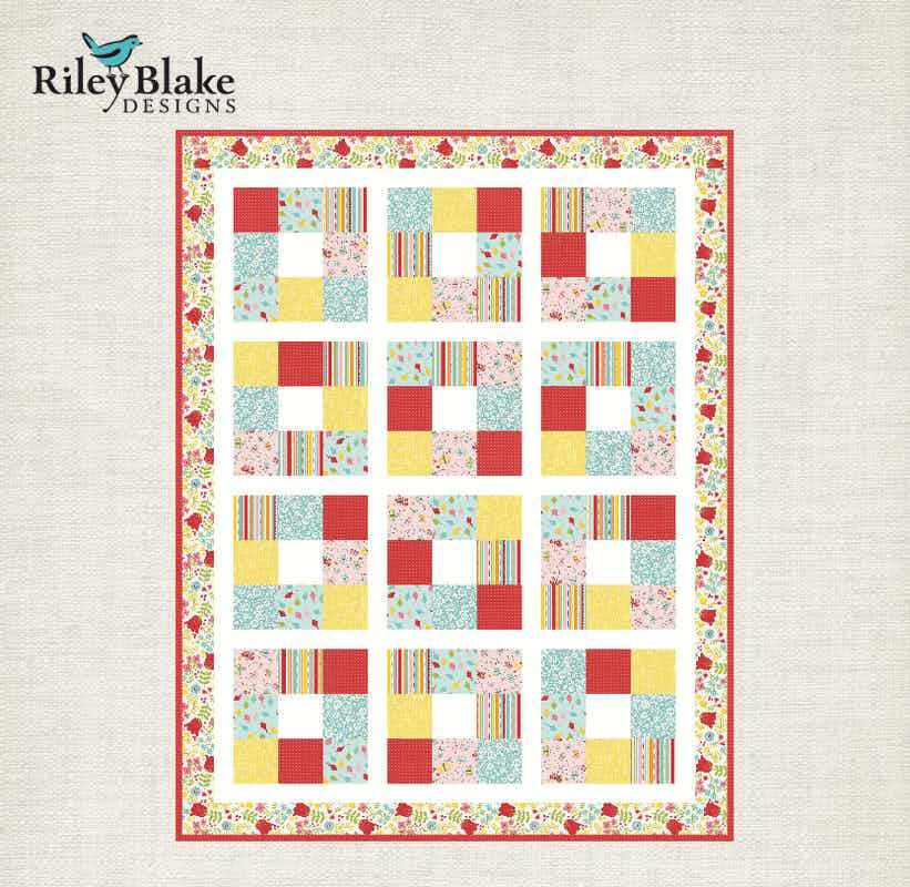 Riley Blake Around the Block Baby Quilt Pattern