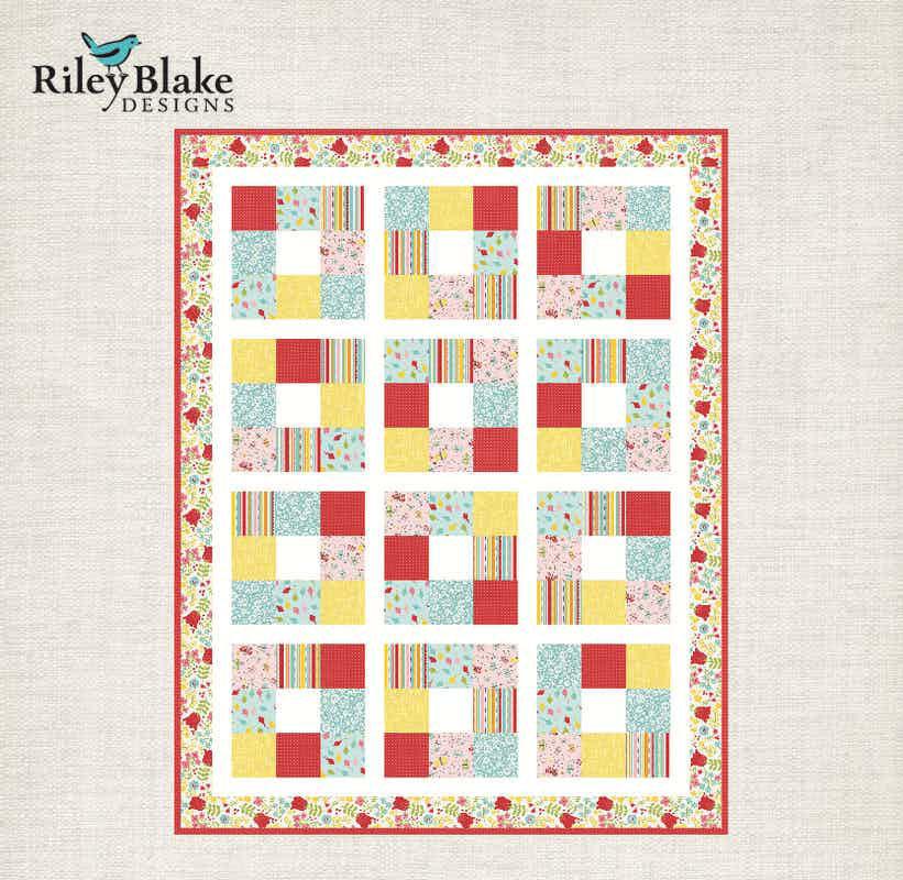 Riley Blake Around the Block Baby Quilt Pattern